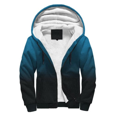 Image of Blue Fades to Black AOP Sherpa Hoodie