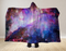 Blue Galaxy Hooded Blanket 80x60 / Muliticolored