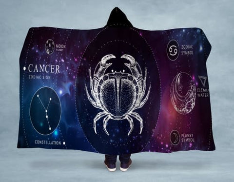 Image of Cancer Hooded Blanket 80x60 / Multicolored