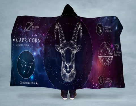Capricorn Hooded Blanket 80x60 / Multicolored