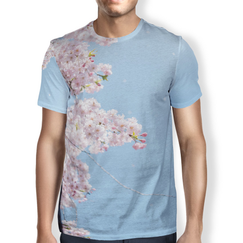 Cherry Blossom Men's T-Shirt S / Blue