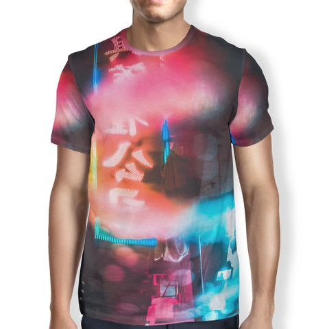 Image of China Town Lights Men's T-shirt S / Red