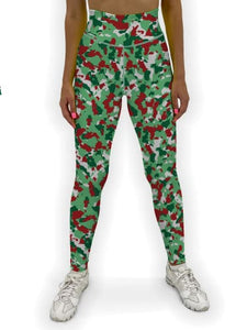 Christmas Camo Jean Legging XS / Green