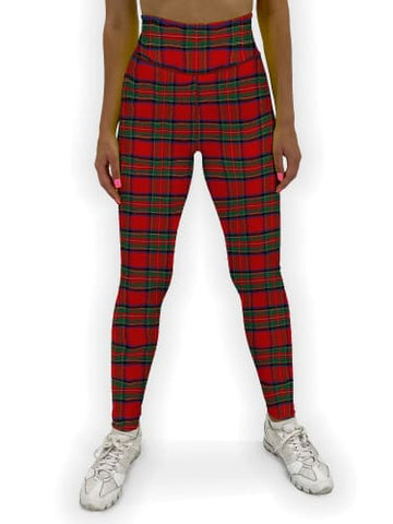 Christmas Tartan Jean Legging XS / Red
