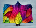 Colorful Paint Strokes NEON Hooded Blanket 80x60 / Multicolored