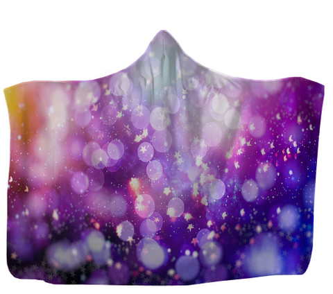Image of Colorful Sparkles Hooded Blanket 80x60 / Muliticolored