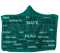 Colorguard Hooded Blanket Choose Your Color 80x60 / Muliticolored