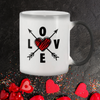 Cupid's Love Arrows Color Changing Mug White / 11Oz Mugs