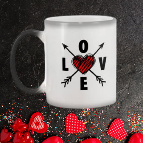 Image of Cupid's Love Arrows Color Changing Mug White / 11Oz Mugs