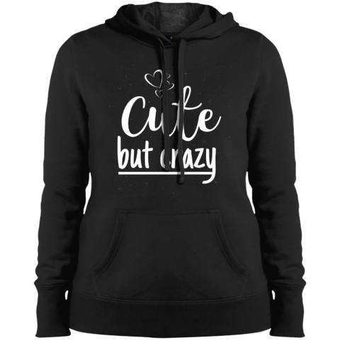 Image of Cute But Crazy Hooded Sweatshirt Black / X-Small Sweatshirts