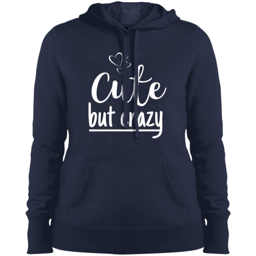 Cute But Crazy Hooded Sweatshirt True Navy / X-Small Sweatshirts
