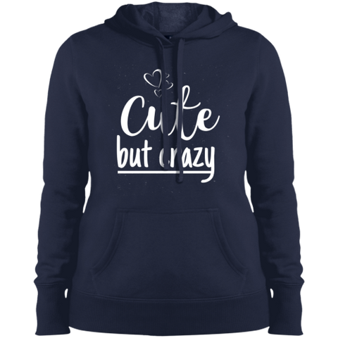 Image of Cute But Crazy Hooded Sweatshirt True Navy / X-Small Sweatshirts