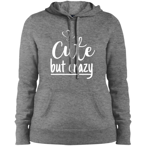 Cute But Crazy Hooded Sweatshirt Vintage Heather / X-Small Sweatshirts