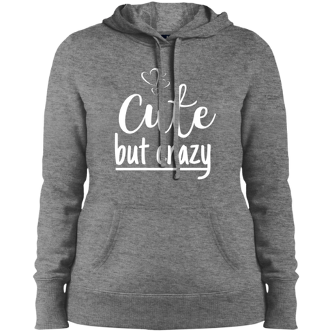 Image of Cute But Crazy Hooded Sweatshirt Vintage Heather / X-Small Sweatshirts