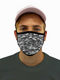 Digital Gray Camo Face Mask Filter Pocket S/M / Multicolored