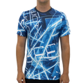 Electric Blue Lines Men's T-shirt S / Blue