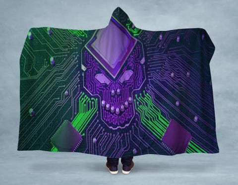 Electro Skull Hooded Blanket 80x60 / Multicolored