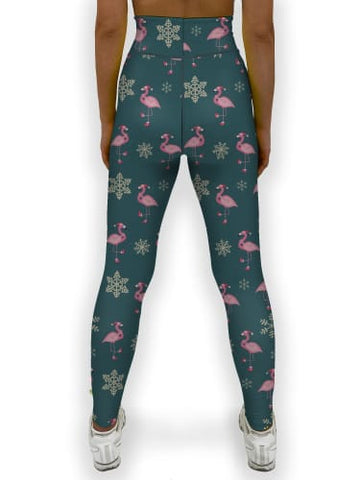 Flamingo Christmas Jean Legging