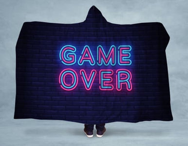 Game Over Hooded Blanket