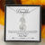 Graceful Love Giraffe Necklace for My Daughter 14K White Gold Finish Necklace