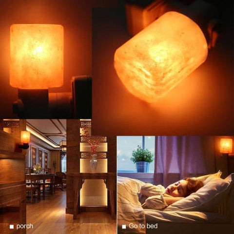 Himalayan Natural Rock Salt Lamp Air Purifier - Amber Lamp