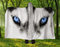 Husky Hooded Blanket 80x60 / Muliticolored