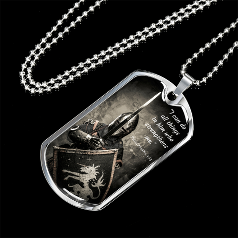 I Can Do All Things Luxury Dog Tag Jewelry