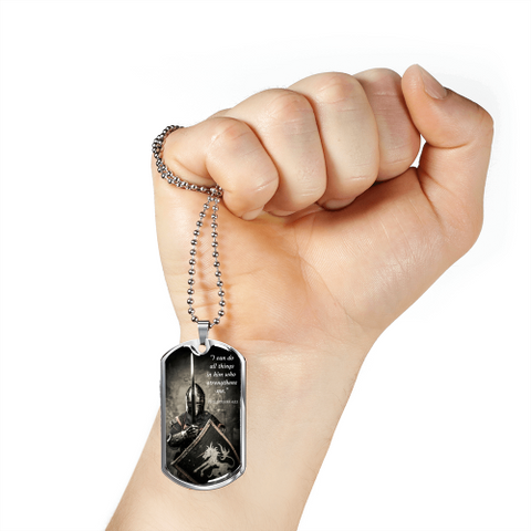 Image of I Can Do All Things Luxury Dog Tag Jewelry