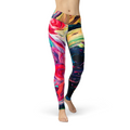 Jean Paint Stroke Leggings XS / Multicolored