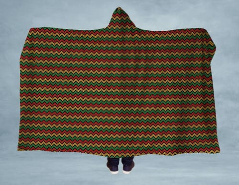 Kwanzaa Style Hooded Blanket 80x60 / Multicolored