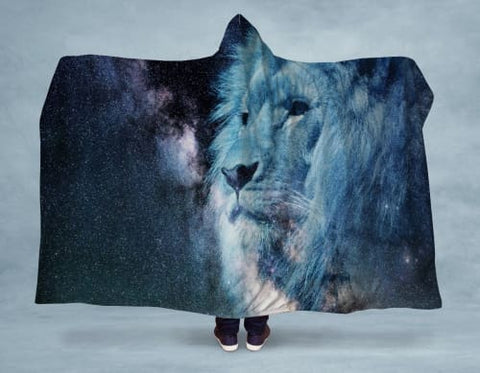 Lion Heart Hooded Blanket 80x60 / Multicolored