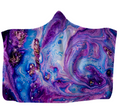 Liquid Purple Hooded Blanket 80x60 / Muliticolored