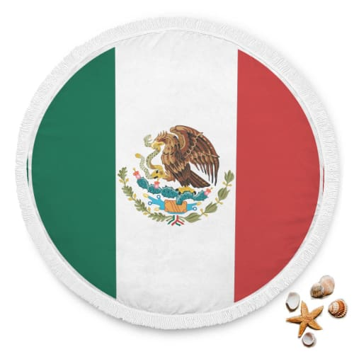 Mexican Independence Day Round Beach Blanket Beach Blanket