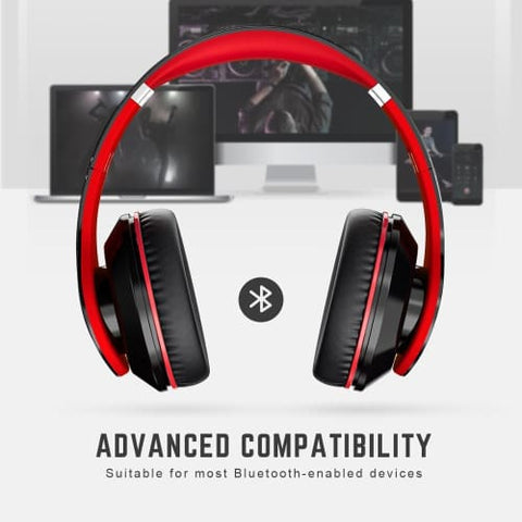Mpow 059 Wireless Bluetooth 4.0 Built-in Mic Soft Earmuffs Noise Cancelling Stereo Headphones Headphones