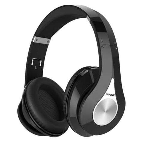 Mpow 059 Wireless Bluetooth 4.0 Built-in Mic Soft Earmuffs Noise Cancelling Stereo Headphones All black / United States Headphones
