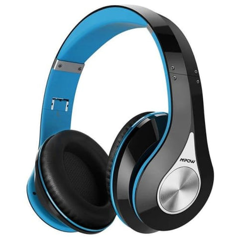Mpow 059 Wireless Bluetooth 4.0 Built-in Mic Soft Earmuffs Noise Cancelling Stereo Headphones Blue / United States Headphones