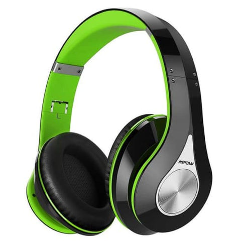 Mpow 059 Wireless Bluetooth 4.0 Built-in Mic Soft Earmuffs Noise Cancelling Stereo Headphones Green / United States Headphones