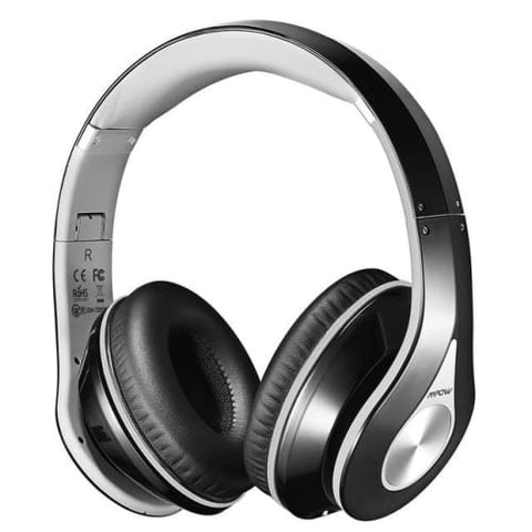 Mpow 059 Wireless Bluetooth 4.0 Built-in Mic Soft Earmuffs Noise Cancelling Stereo Headphones Grey / United States Headphones