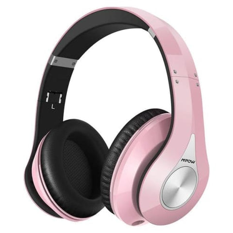 Mpow 059 Wireless Bluetooth 4.0 Built-in Mic Soft Earmuffs Noise Cancelling Stereo Headphones Pink / United States Headphones