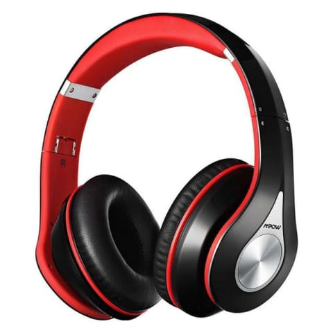 Mpow 059 Wireless Bluetooth 4.0 Built-in Mic Soft Earmuffs Noise Cancelling Stereo Headphones Red / United States Headphones
