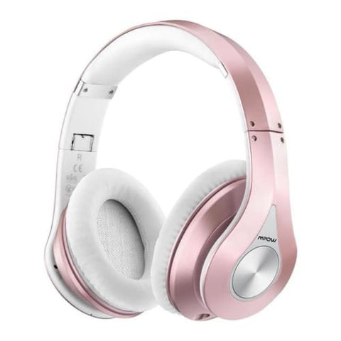 Mpow 059 Wireless Bluetooth 4.0 Built-in Mic Soft Earmuffs Noise Cancelling Stereo Headphones Rose Gold / United States Headphones