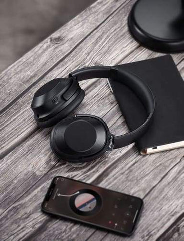 Image of Mpow H12 Over the Ear Bluetooth Active Noise Canceling Headphone With HiFi Sound Deep Bass 30H Playtime Headphones