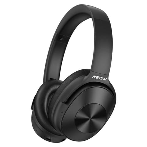 Mpow H12 Over the Ear Bluetooth Active Noise Canceling Headphone With HiFi Sound Deep Bass 30H Playtime Black-AB / United States Headphones