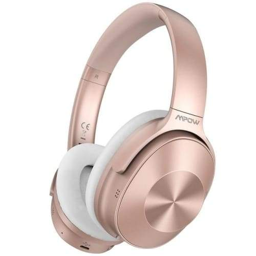 Mpow H12 Over the Ear Bluetooth Active Noise Canceling Headphone With HiFi Sound Deep Bass 30H Playtime Pink / United States Headphones