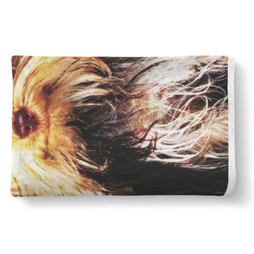 My Yorkie Knows My Heart Sherpa Blanket Blanket