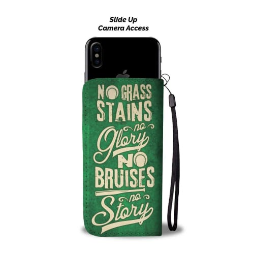 No Grass Stains - Wallet Phone Case Wallet Case