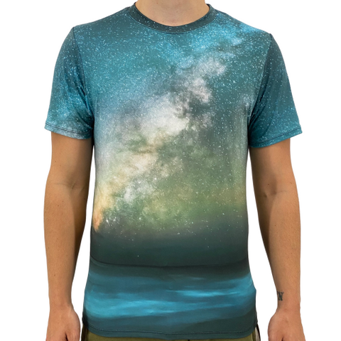 Image of Ocean Space Men's T-Shirt S / Blue