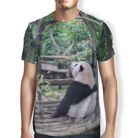 Image of Panda Chill Men's T-shirt S / Green