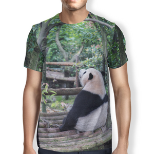 Panda Chill Men's T-shirt S / Green