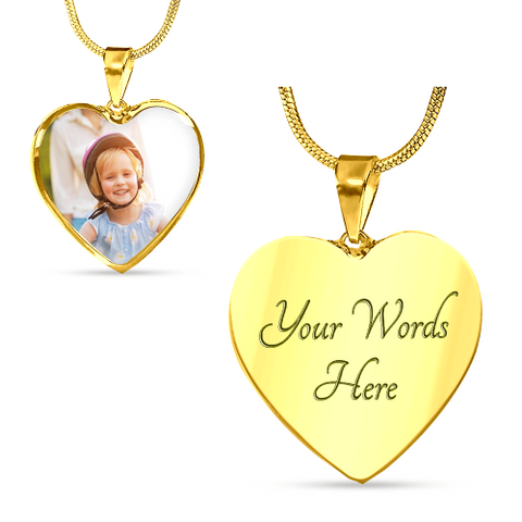 Personalized Picture Heart Shaped Necklace Jewelry
